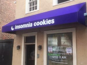 Custom storefront awning sign
